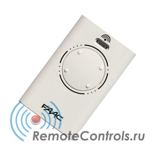 Пульт ДУ - Брелок FAAC XT4 868SLH LR белый с частотой 868,35МГц