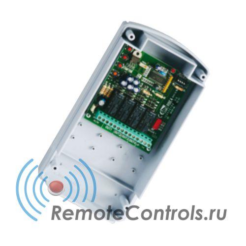 Универсальная система дистанционного управления, приемник CAME RBE4N. Может работать с любыми пультами ДУ CAME в зависимости от дополнительно установленной платы радиоканала серии AF.