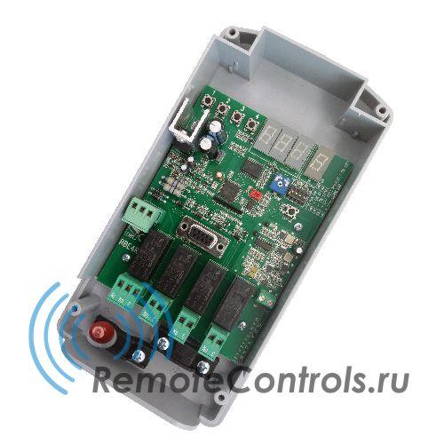 Универсальная система дистанционного управления, приемник CAME RBE4RC с динамическим кодом 433,92МГц. В комплекте мастер-брелок. Выходы приемника могут работать в различных режимах: бистабильный, с регулируемой длиной импульса, присутствие оператора.