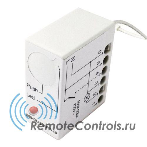 Система дистанционного управления освещением Nice TT2L. Миниатюрный блок управления осветительными системами со встроенным радиоприемником. Может встраиваться в стену, в подрозетник, распаечную коробку...